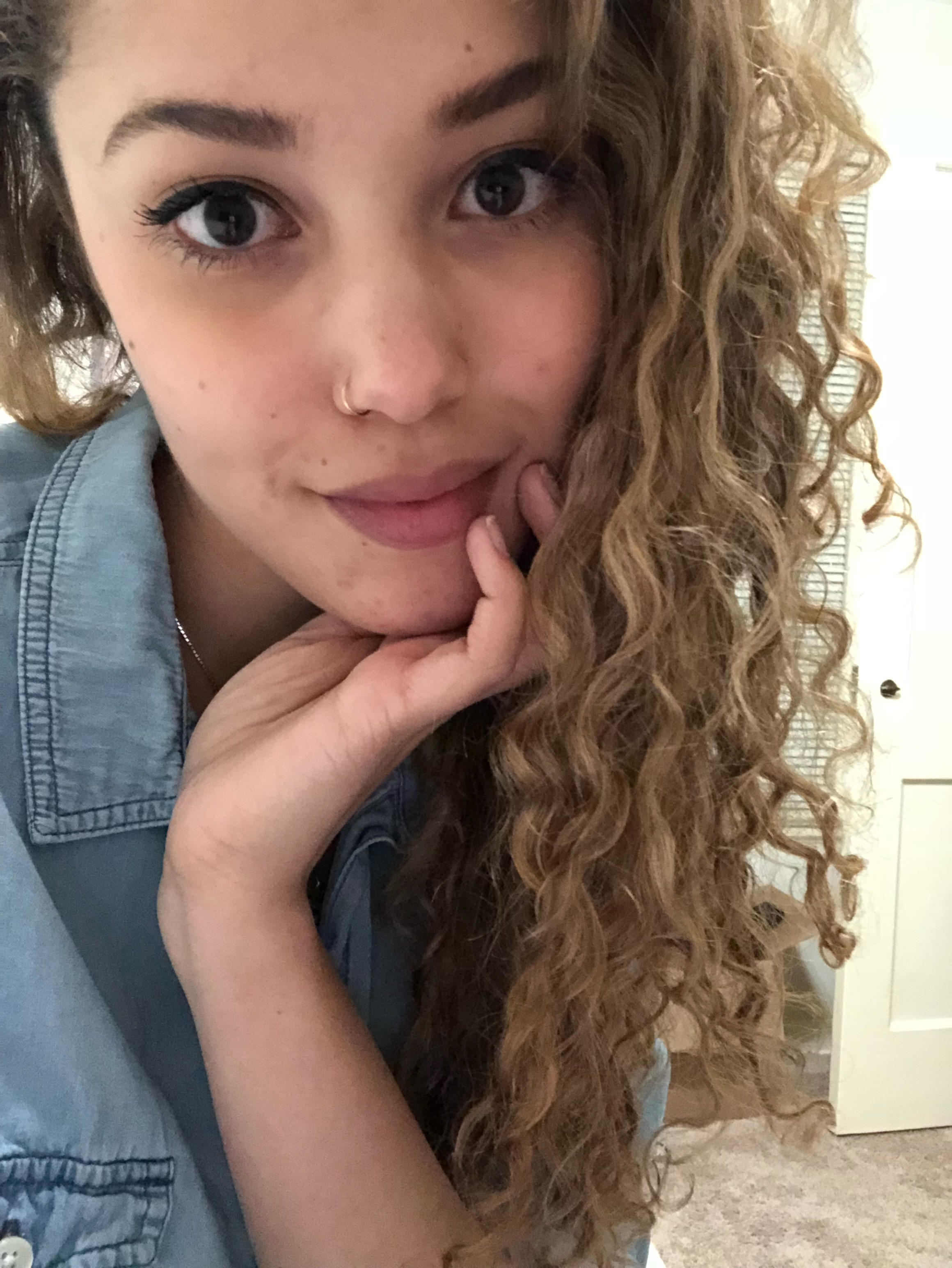 3a 3b Curly Hair Transitioning To Natural Routine Essentially Erynne