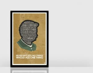 Ron Swanson wall art
