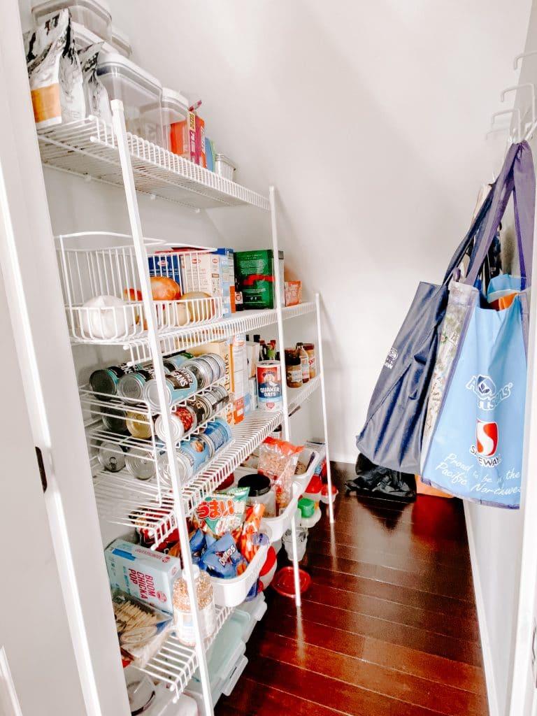 Organized pantry items