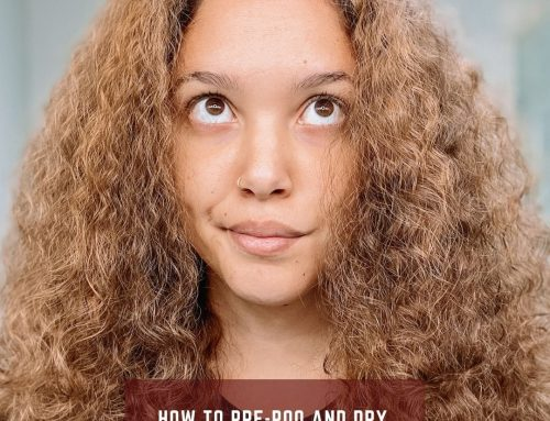 How to Pre-Poo and Dry Detangle Curly Hair