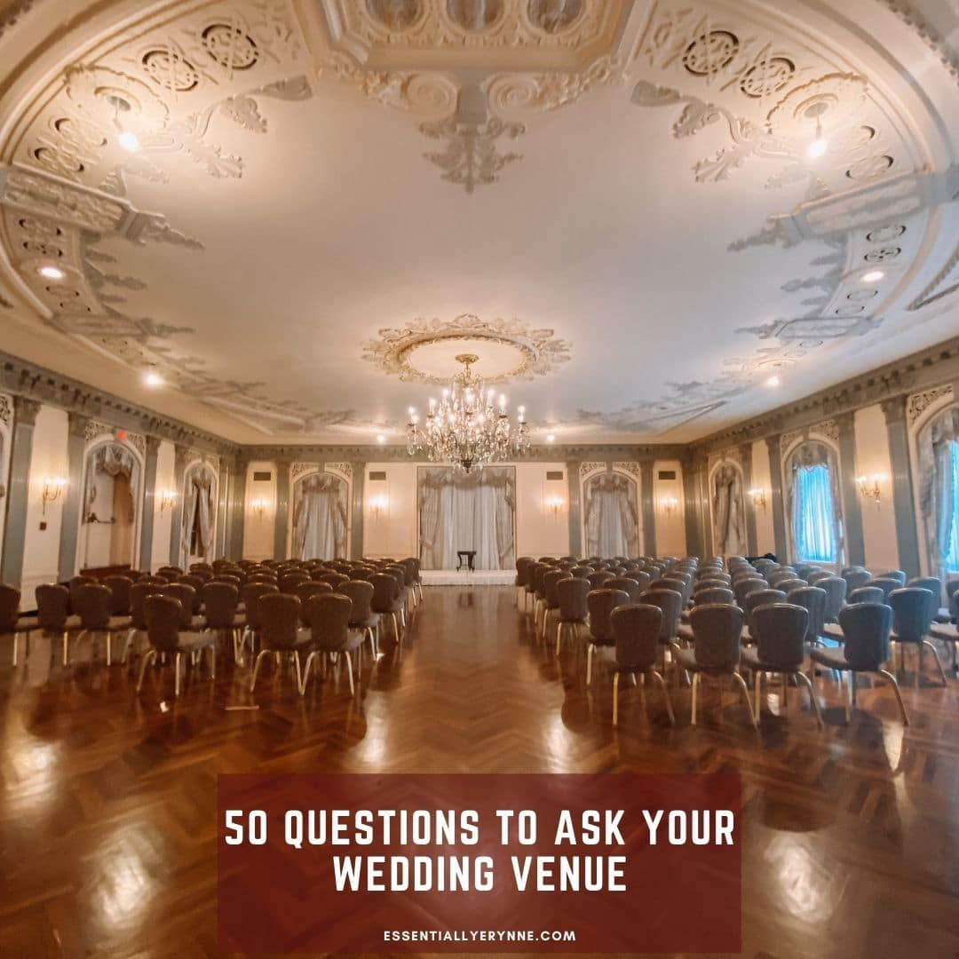 50 Questions to Ask Your Wedding Venue